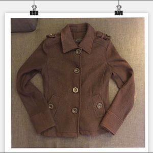Wool blend warm jacket